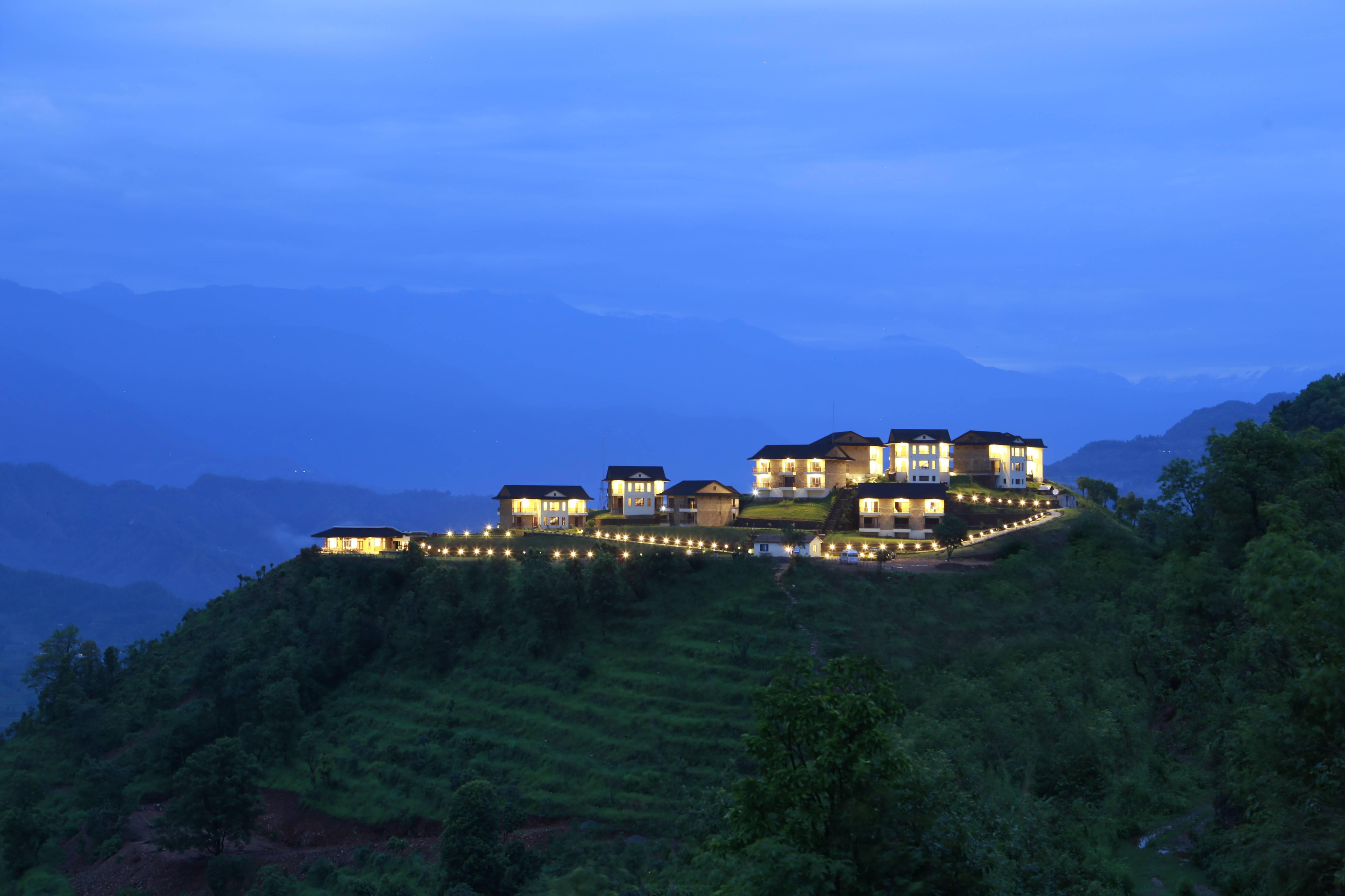 Hills nature rupakot lights greenery evening